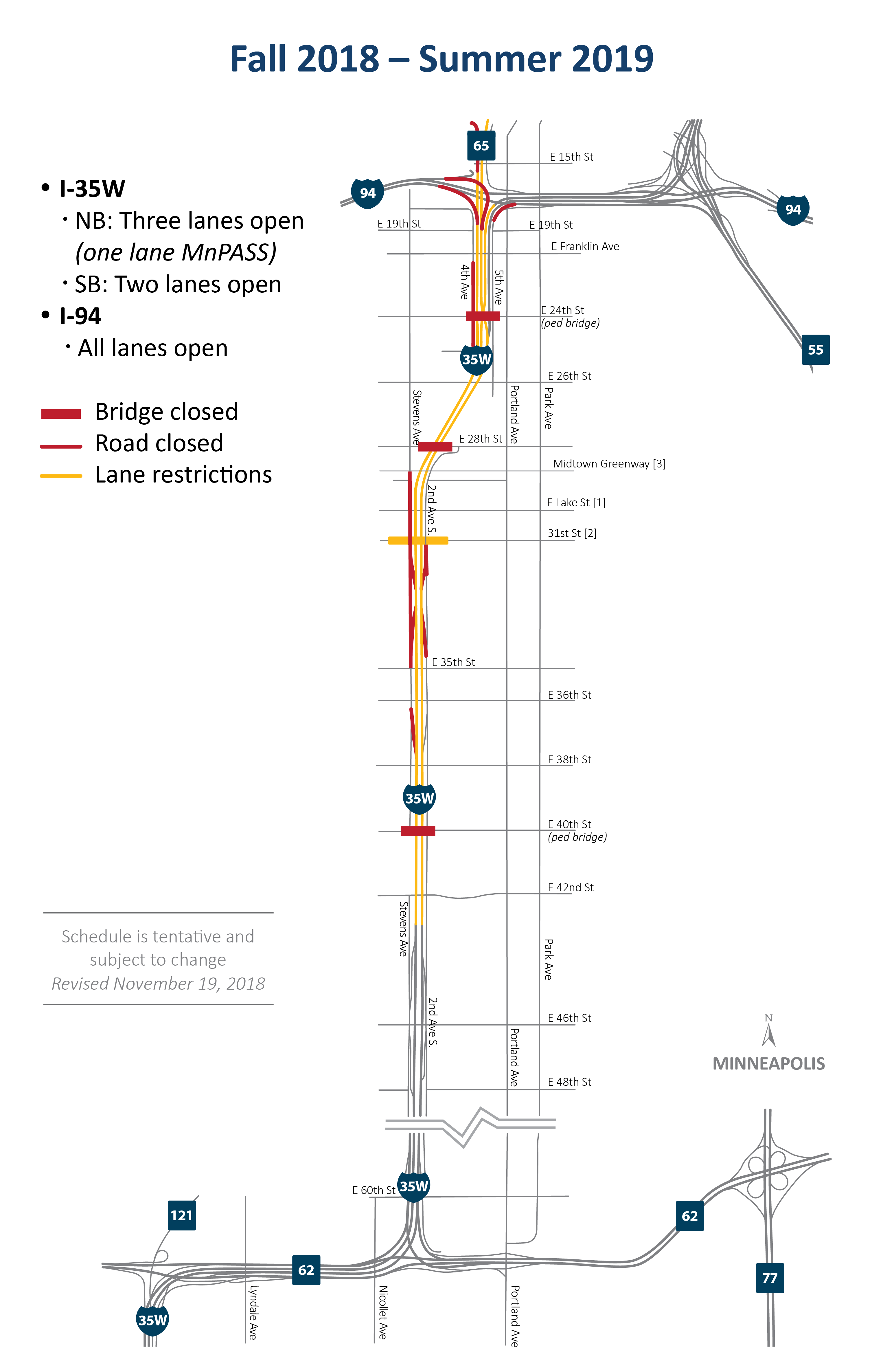 35W@94: Downtown to Crosstown full project map