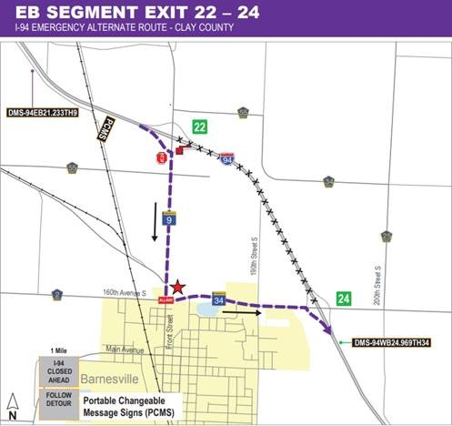 I-494 emergency alternate route